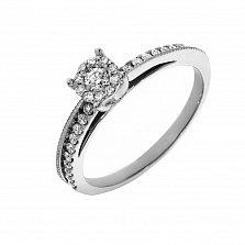Кольцо из белого золота Габриэль с бриллиантами