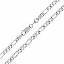 Серебряная цепь Сарагоса с родированием, 3,5 мм
