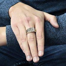 Серебряный перстень Альтанто с чернением и узорной шинкой