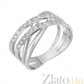 Золотое кольцо белого цвета с фианитами Лакретия 000022965