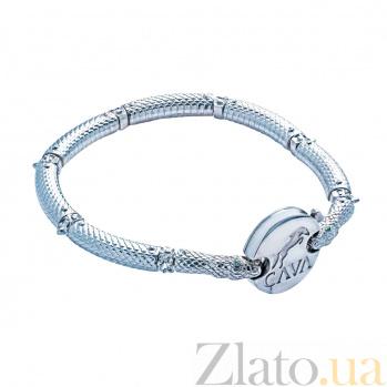 Серебряный браслет для бусин Мощная сила 000027083