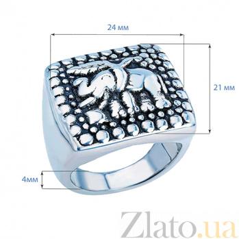 Серебряное кольцо-печатка Слон AQA--110550020