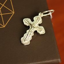 Крестик из серебра Благодать
