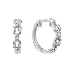 Золотые серьги-конго Венок изобилия с бриллиантами