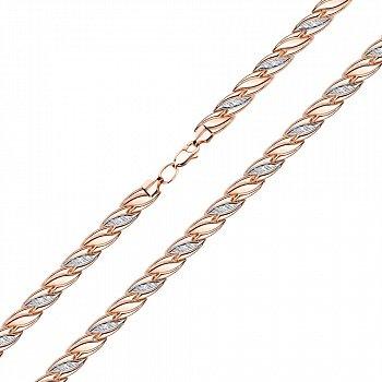 Золотой браслет в комбинированном цвете 000123145