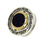 Серебряное кольцо с авантюрином Джоконда