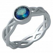 Серебряное кольцо Фабиана с топазом мистик