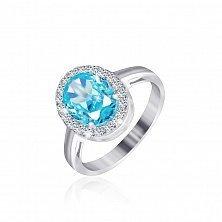 Серебряное кольцо с фианитами Равенна