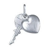 Серебряный подвес Ключ к сердцу