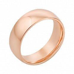 Золотое обручальное кольцо в красном цвете 000123479