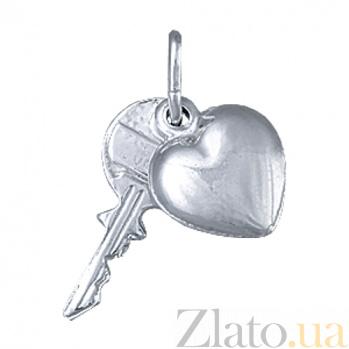 Серебряный подвес Ключ к сердцу 000027496