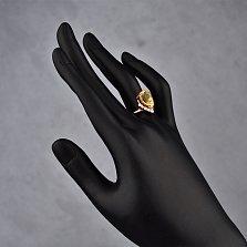 Золотое кольцо Сюзанна с цитрином и фианитами