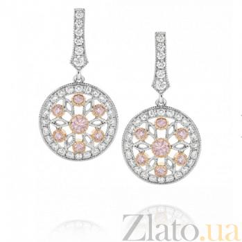 Серьги Argile с бриллиантами и розовыми сапфирами E-cjAr-W/R-8s-60d