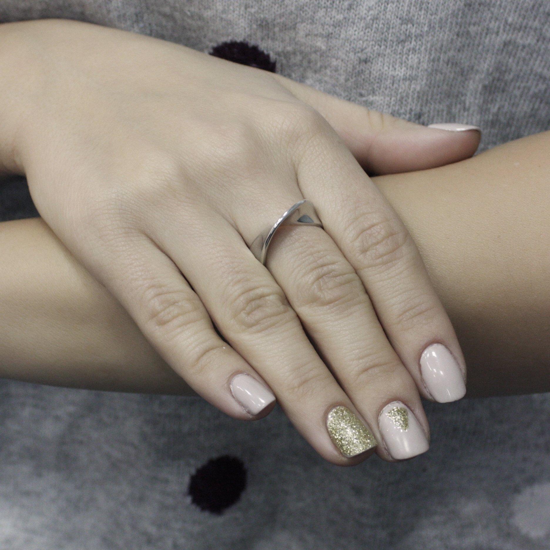 Серебряное кольцо Дего в стиле минимализм