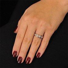 Золотое обручальное кольцо Симона с фианитами