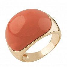 Серебряное кольцо Валенсия с красным кораллом