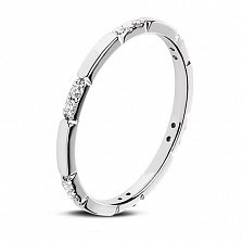 Кольцо из белого золота Холидей с бриллиантами