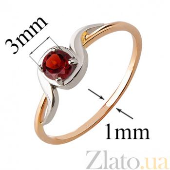 Кольцо из красного золота с гранатом  Миральда TRF--1421513н/гранат
