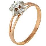 Золотое кольцо Сюзет с цирконием