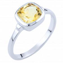 Серебряное кольцо Забава с цитрином
