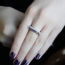 Серебряное кольцо с бриллиантами Милена