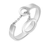 Кольцо из белого золота Механика