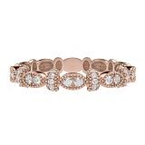 Обручальное кольцо из розового золота с бриллиантами Очарование