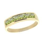 Золотое кольцо с перидотами Меган