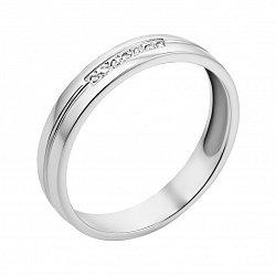 Обручальное кольцо из белого золота с бриллиантами 000103661