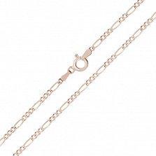 Серебряная цепь Сарагоса с позолотой, 4мм