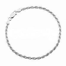 Серебряный браслет Шанхай, 3 мм, 20 см