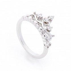 Серебряное кольцо- корона с фианитами 000087968