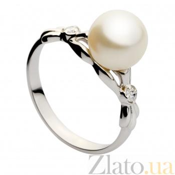Кольцо из белого золота с жемчугом Дебора 000029906