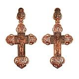 Золотой крестик с черным родированием Крещенский