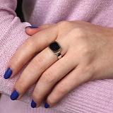 Серебряное кольцо Классика с авантюрином