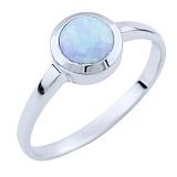 Серебряное кольцо Эрма с опалом
