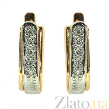 Золотые серьги с бриллиантами Варна ZMX--BL-7023_K