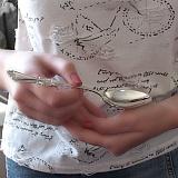 Серебряная ложка десертная Ольга