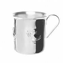 Серебряная детская чашка Marta с утенком