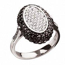 Кольцо из белого золота с белыми и черными бриллиантами Carmen