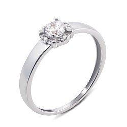 Золотое кольцо Ирида в белом цвете с фианитами