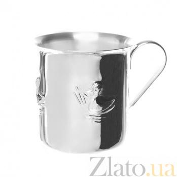 Серебряная детская чашка Marta с утенком ZMX--1721_5961
