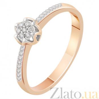 Золотое кольцо с бриллиантами Мелестина KBL--К1998/крас/брил