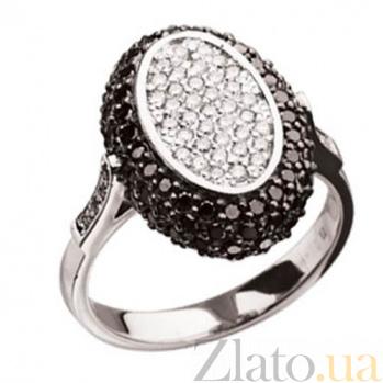 Кольцо из белого золота с белыми и черными бриллиантами Carmen KBL--К1574/бел/брил