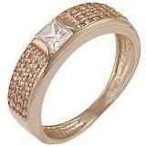 Золотое кольцо Эмили с кристаллами циркония