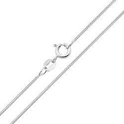 Серебряная цепочка в плетении снейк 000132663