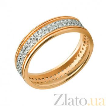 Обручальное кольцо из желтого золота Анжелика с фианитами VLT--ТТ166