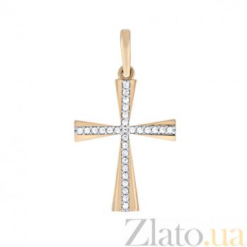 Золотой крестик с фианитами Воодушевление 000023241