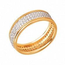Обручальное кольцо из желтого золота Анжелика с фианитами
