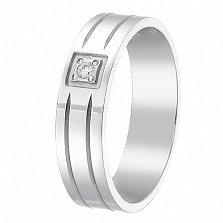Обручальное кольцо Моя верность с бриллиантом